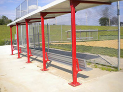 Steel Netting Poles, Dugouts & Shelters